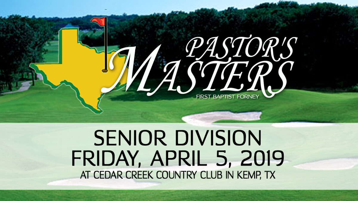 Pastor's Masters Golf Tournament Senior Division
