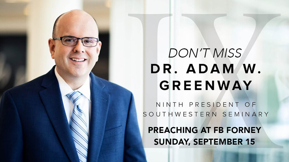 Encounter Worship with Dr. Adam W. Greenway
