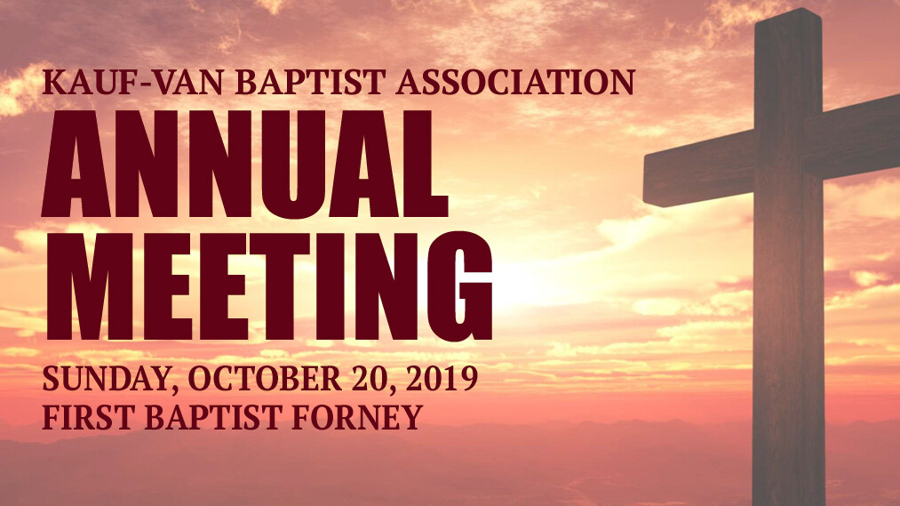 Kauf-Van Baptist Associational Meeting
